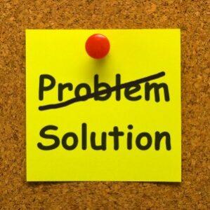 sticky note on cork board problem solution