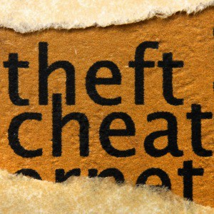 theft cheat on rawhide background