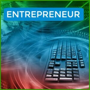 kEYBOARD with world swirling around it and word entrepreneur