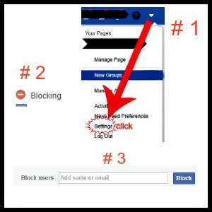 instruction on blocking facebook friend