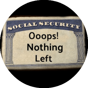 nothing left on a social security card