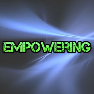 what is empowering in green on blue