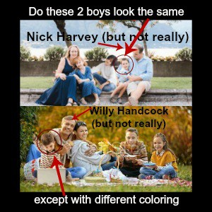 families of nick harvey and willy handcock