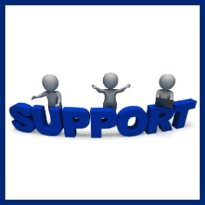 3 characters around the word support
