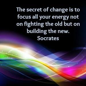 socrates quote build the new