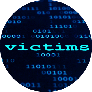 word victim on a computer search