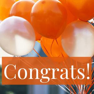 balloons with congrats!