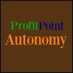 profit point autonomy homemade logo