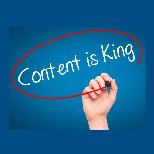 content is king with red circle around it