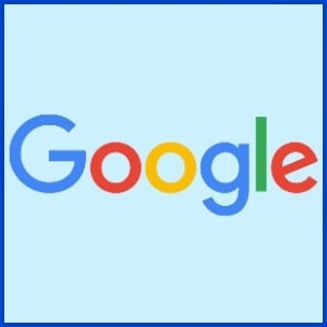 Google on light blue background