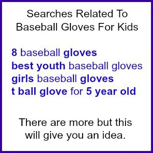 why is google baseball gloves search