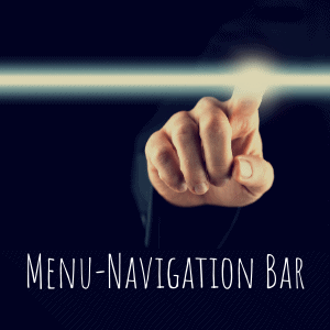 menu navigation finger with white light bar
