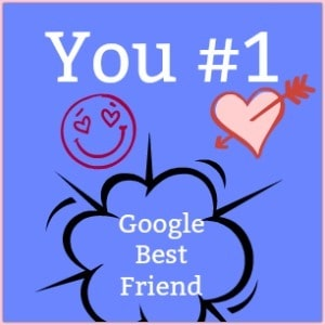 blue background with you #1 google best friend
