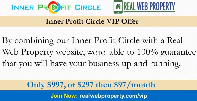a screenshot with the pricing for inner profit circle