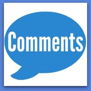 big blue comment bubble with comments inside