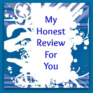 words my honest review on blue and white background