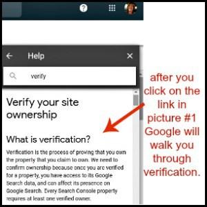part 2 of google verification instructions