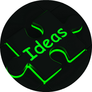 green word ideas on black