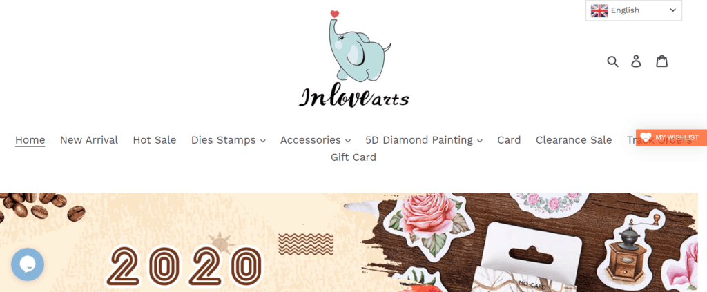 inlovearts homepage
