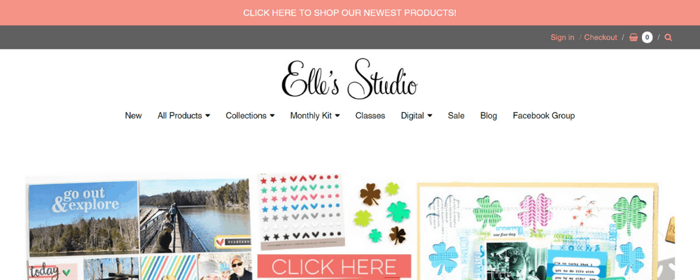 elle's home page
