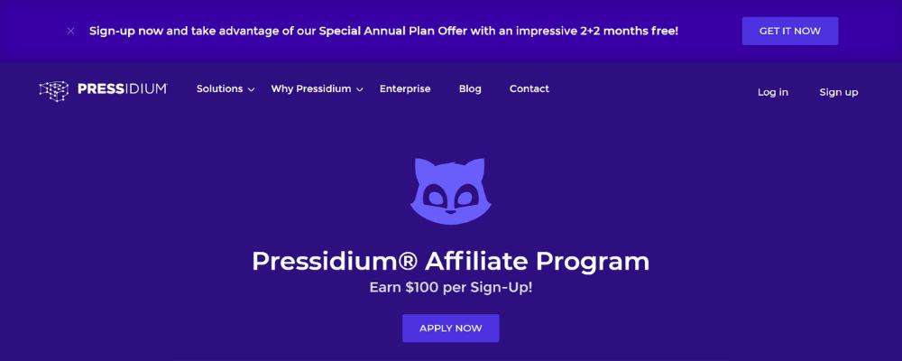 pressidium affiliate home page