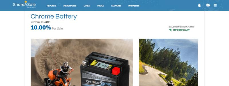 chrome affiliate page