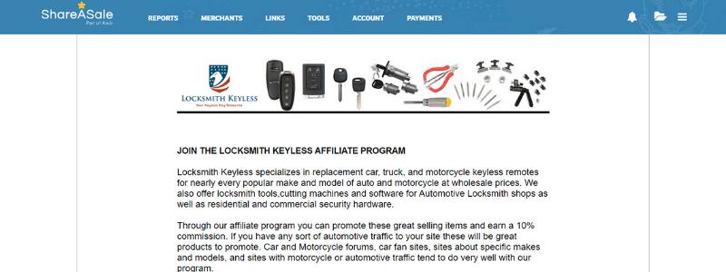 locksmith affiliate page