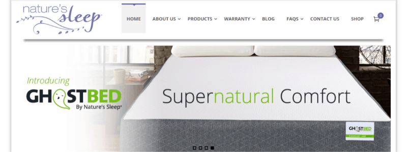 natures sleep home page