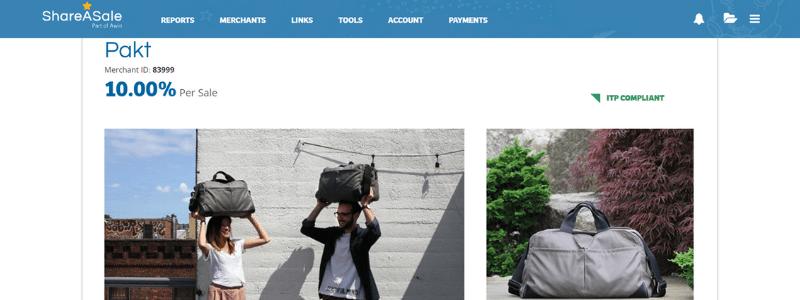 pakt affiliate page