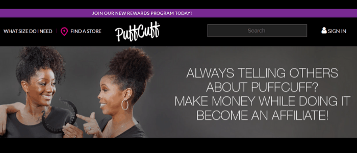 image of PuffCuff affiliate program