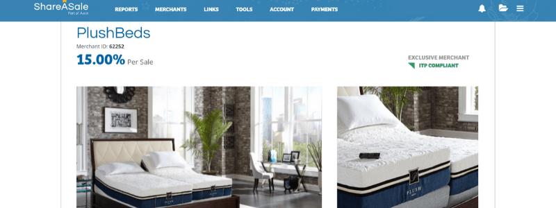 plush beds affiliate program