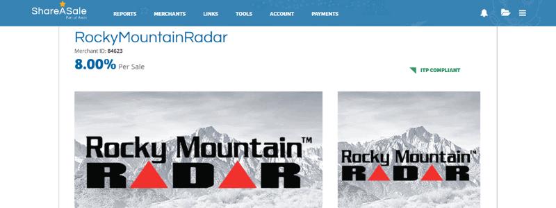 rocky radar affilaite page
