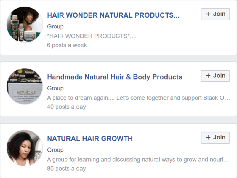 FB community afro hair to join