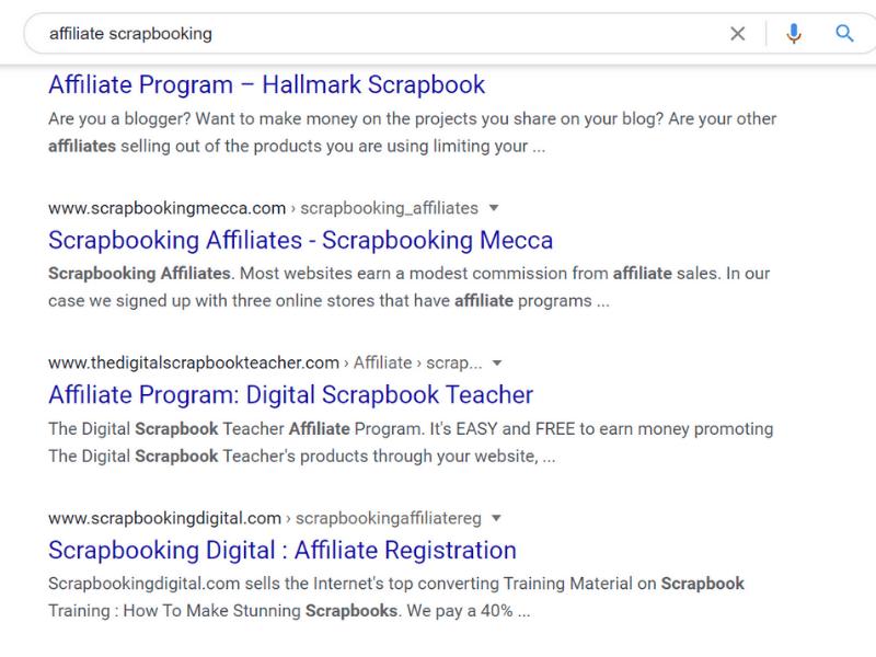 google search affiliate