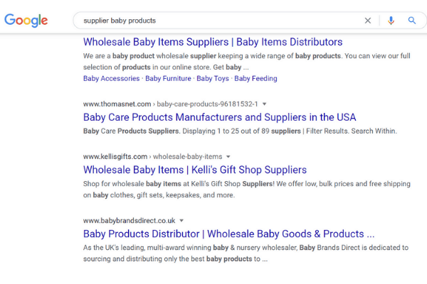 supplier baby products