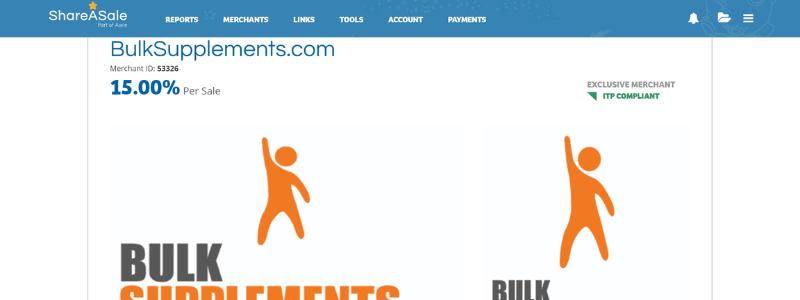 bulk supplements affiliate page