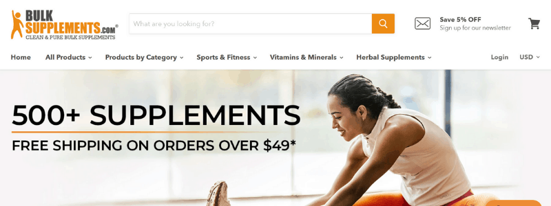 bulk supplements home page