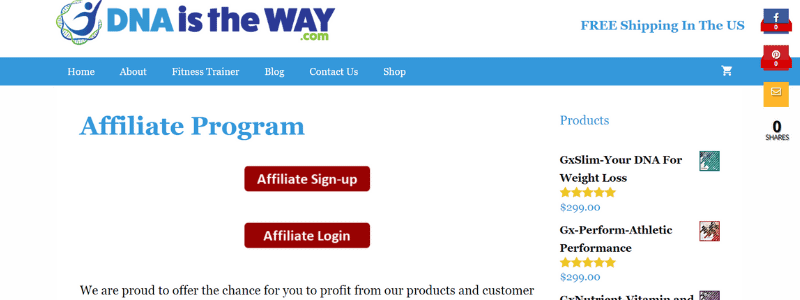 dna is the way affiliate program