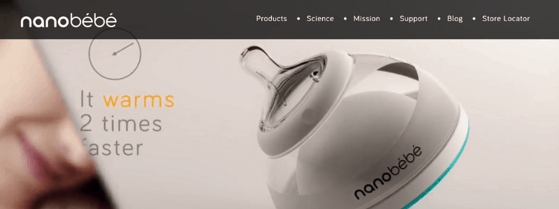 nanobebe home page
