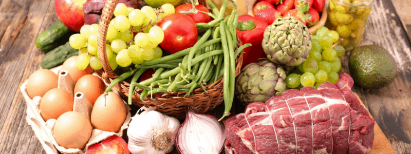 an array of organic foods