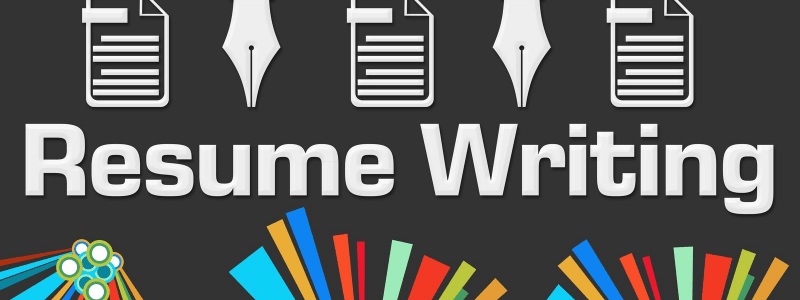 resume writing with pads and pens
