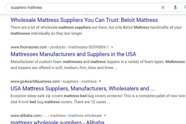 suppliers mattress