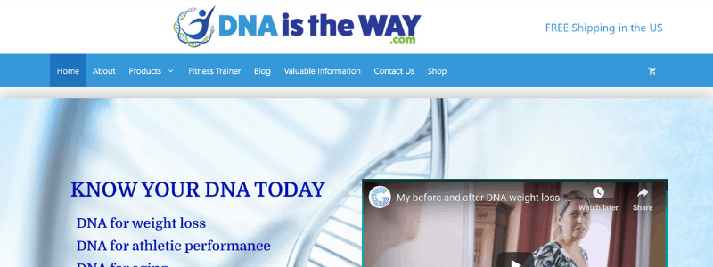 dna is the way home page