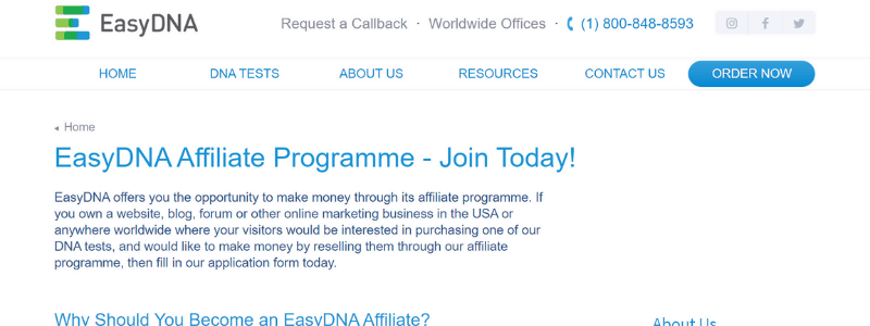 easy dna affiliate program