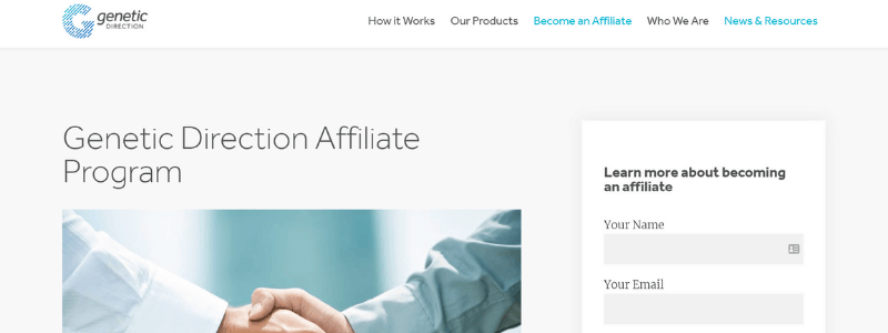 genetic direction affiliate program