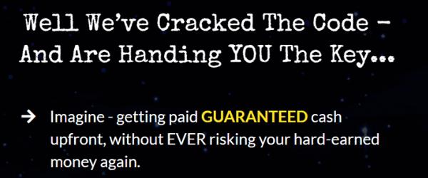 screenshot of pockitz or freedom profit promises