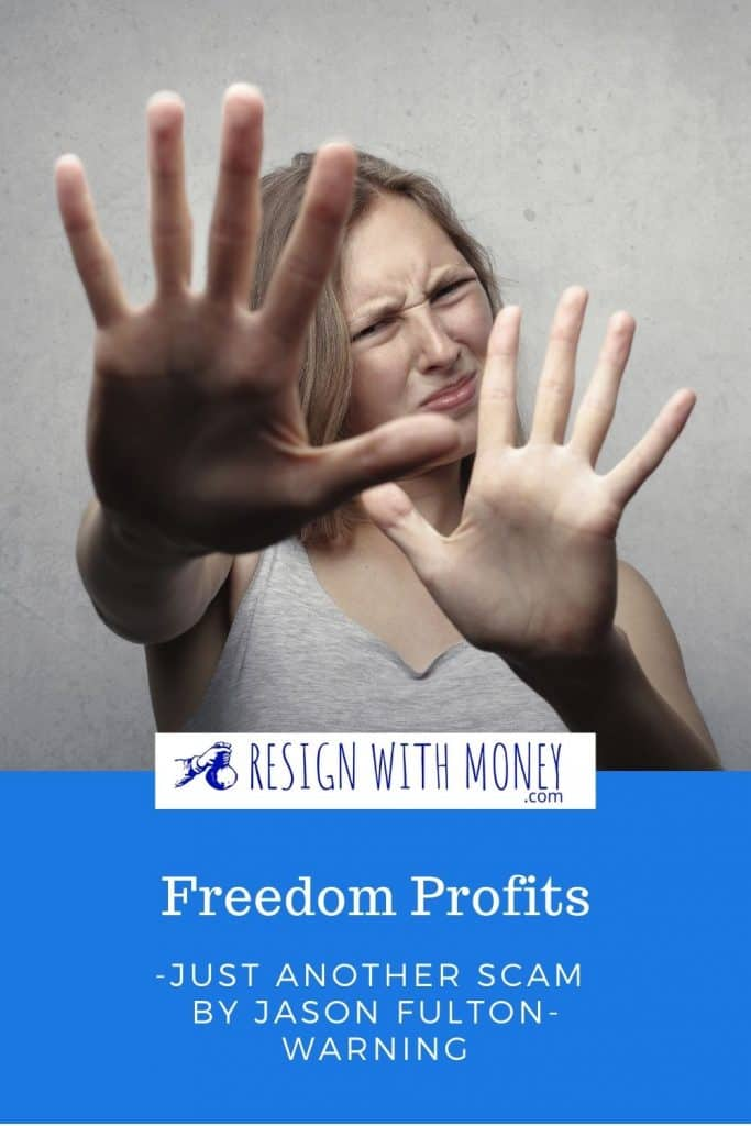 freedom profits scam pin