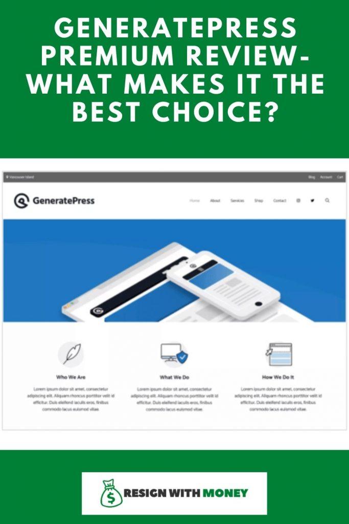 GeneratePress Premium Review pin