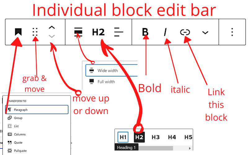 individual block edit 1 how to use the wordpress block editor