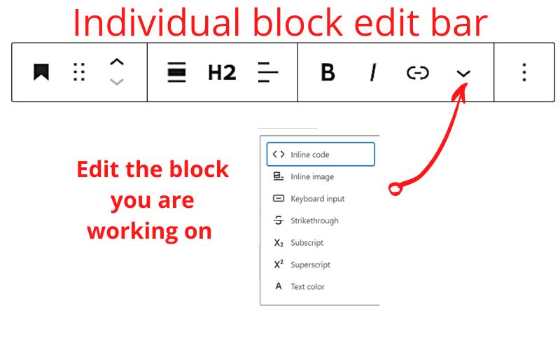 individual block edit 2 how to use the wordpress block editor